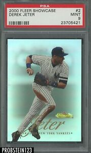 2000 Fleer Showcase #2 Derek Jeter New York Yankees HOF PSA 9 MINT
