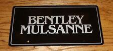 Original Bentley Mulsanne Dealership License Plate Cover