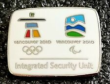 2010 Vancouver Olympic INTEGRATED SECURITY UNIT pin