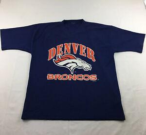 Denver Broncos Vintage John Elway 7 T-Shirt Mens XL Blue Orange V Neck Tee