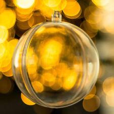 Adornos de color principal transparente de bola para árbol de Navidad