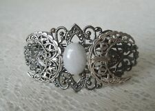 Moonstone Triple Moon Cuff Bracelet, wiccan goddess wicca pagan witch witchcraft