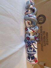 "NIB PBR Pabst Blue Ribbon Art Series Snake Sign 11"" Draft Beer Keg Tap Handle"