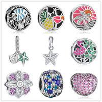 Fashion European 925 Silve CZ Charm Beads Fit sterling Necklace Bracelet Chain