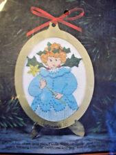 Fairy Angel P Buckley Moss 1993 Christmas ornament cross stitch kit unopen