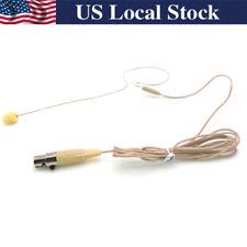 Beige Single Earhook Headset Microphone for Shure Wireless-TA4F 4pin mini XLR
