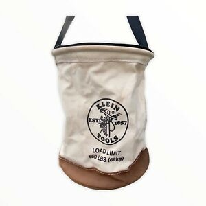 "Klein Tool Bag Heavy  Duty Top Closing Bucket Bag 150lb Capacity. 18"" Tall."