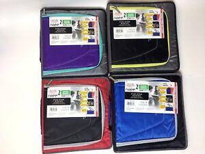 """Five Star Zipper Binder 2"""" 530 Sheet Handle Storage Pocket Shoulder Strap"""