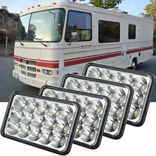Winnebago Vista 2007-2009 RV Motorhome Pair Diamond Clear Front Headlights with Bulbs Left /& Right