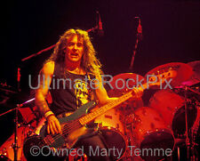 STEVE HARRIS IRON MAIDEN PHOTO BASS Concert Photo in 1989 by Marty Temme