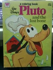 PLUTO and the lost bone Vintage  COLORING BOOK 1979 Donald Mickey Daisy