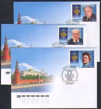 Russia 2011 persone/ORDINE DI SANT 'ANDREA/Medaglie 3 x FDC (n32853)