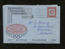 AUSTRALIA 1956 OLYMPICS AIRLETTER to SCOTLAND..re GAMES