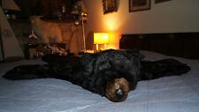 BIG BLACK BEAR RUG bearskin with head plush furry snuggly blanket gift prop NEW