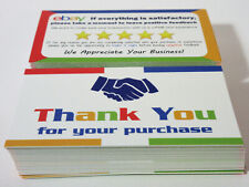 """100 eBay Seller Thank You Business Cards 5 Star Feedback Reminder Size 3.5"""" x 2"""""""