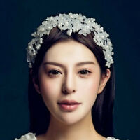 Women Bride Crystal Wedding Flower Hair Clip Headband Accessories