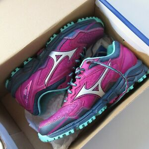 NWT Mizuno J1GD177103 Wave Daichi 2 in Beetroot Silver Trail Running Shoes 8