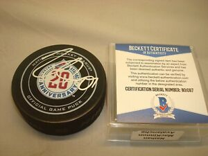 Nathan Mackinnon Signed Avalanche Official Game Hockey Puck Auto. PSA/DNA COA 1A