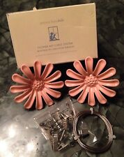 Pottery Barn Kids PBK Pink Flower Art Cable System Retro Kitchen ArtWork Display