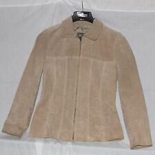 Wilson Leather light brown Suede Jacket Zip Up & lined size M RN: 69428