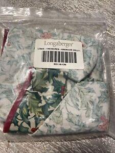 Longaberger Liner, American Holly, 2000 HolidaY Host. Treasures Basket