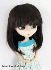 "9-10"" bjd doll head dark brown braid wig dollfie Feeple Soom ID Pullip W-JD026"