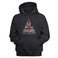 Def Leppard British Logo Charcoal Heather Pullover Hoodie Heavy Metal Music