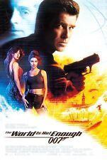 JAMES BOND The World Is Not Enough Pierce Brosnan Original D/S Movie Poster - A