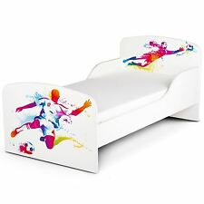 FOOTBALL PLAYER TODDLER JUNIOR BED WHITE KIDS CHILDRENS BOYS - EASY TO ASSEMBLE