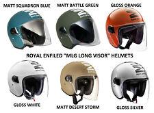 """Brand New Royal Enfield """"MLG LONG VISOR"""" Open Face Helmet ( M / L / XL )"""