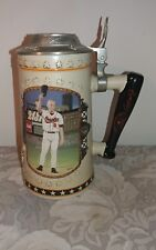 "Vtg Cal Ripken Jr. Premier Issue Ceramic Beer Stein w/ Lid / ""A League Of His Ow"