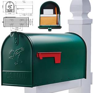 Large US Mailbox Heavy-Duty Extra Galvanized Steel Jumbo Post Mount Big Mail Box