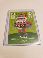 Boone # 328 Animal Crossing Amiibo Card Horizon Series 4 MINT NEVER SCANNED!