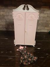 Vintage 1960s Barbie Suzy Susy Goose Pink & White Wardrobe Closet, bonus dress