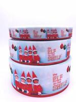 "Christmas Elf Shelf 3"" 1.5"" 1"" 75mm 38mm 25mm Grosgrain Ribbon"