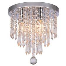 Hile Lighting KU300107 Crystal Chandeliers Flush Mount Ceiling Light 11.0 Inch 3
