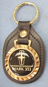 Lincoln MARK VII Black Leather USA Royal Classic 5109 Gold Keyring 1984 - 1992
