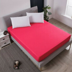 Waterproof Bed Fitted Sheet Bed Cover Protector Bed Pad Bedsheets Twin King Size