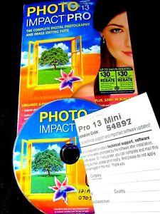 Photo Impact Pro 13 complete photo imaging editing suite