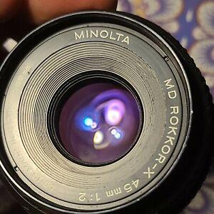 Konica Minolta Minolta Rokkor-X Rokkor-X MD 45mm f/2 MF MD Lens