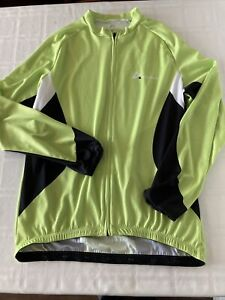 Anivivo Full Zip Cycle Jacket Mens Sz 2XL Green/Black/White TS1