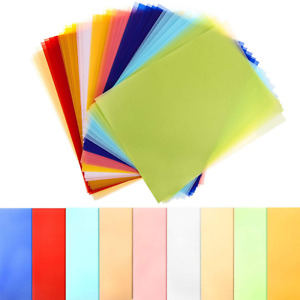 Colored Vellum Paper Transparent Clear Printable Drafting Sheets 9 Colors 45 Pcs