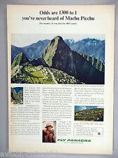 Panagra Pan Am Pan American Airlines PRINT AD - 1964 ~~~ Machu Pichu