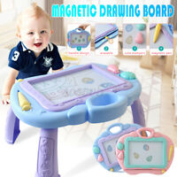 Childs Magnetic Drawing Board Colorful Erasable Writing Table Desk Painting