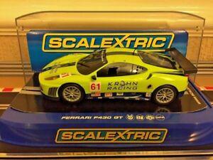 Scalextric Ferrari F430 GT2 Krohn Racing Mint Condition C3080