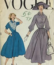 New Listing1950s Vogue Vintage Sewing Pattern Dress 9085 Bust 36