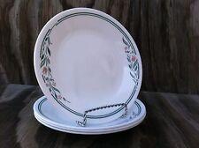 4 Corelle Dishes Rosemarie White B&B Or Dessert Plates Set Of 4