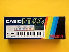 CASIO PT 80 ROM Electronic Synthesizer E Piano OVP Box KEYBOARD Retro Computer 1