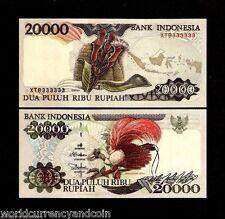 INDONESIA 20000 RUPIAH P135 SOLID # 333333 REPLACEMENT 1995 UNC BIRD CLOVE NOTE