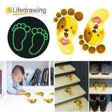 Glow In The Dark Footprint Foot Stickers Luminescent Kids room Decor Arrow Puppy